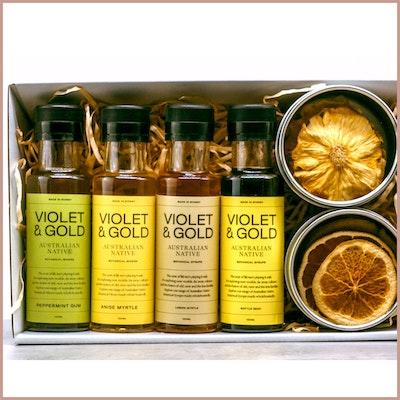 Violet & Gold Aussie gift Box