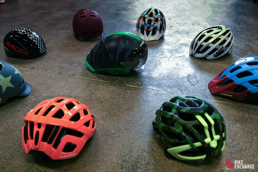 choosing bike helmets what to know flat lay