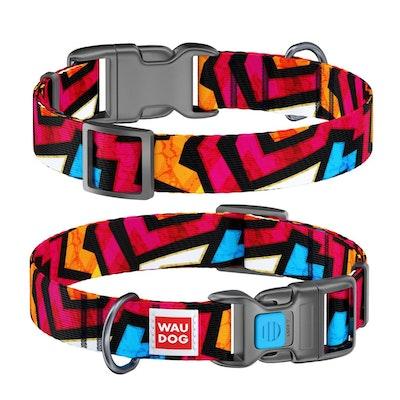 WauDog by the Collar Company WauDog Nylon Dog Collar -Graffiti - Sizes: X-Small, Small, Medium, Large