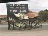 Flat out safety message
