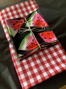 Black Watermelon Napkins