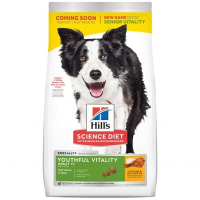 Hills Hill's Science Diet Youthful Vitality Senior Chicken Dry Dog Food
