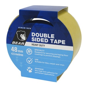 Bear Double-Sided Tape 48mm x 4.5m HEAVY DUTY WHITE Norton BDST