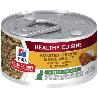 Hills Hill's Science Diet Healthy Cuisine Kitten Chicken & Rice Medley Wet Cat Food 79G