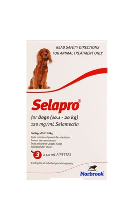 SELAPRO Spot On Treatment 10.1-20kg Dog 3 Pack