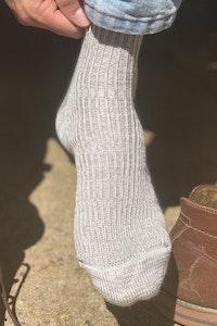 local merino, Yass alpaca & silk ribbed Taralga socks