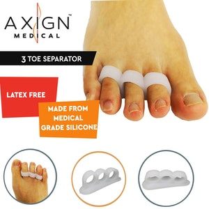 Boutique Medical 1 Pair Axign 3 Toe Separator Medical Silicone Bunion Pain Relief Spacer