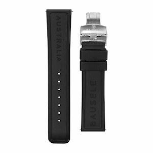 Bausele Oceanmoon IV Strap - Black Rubber - 22mm
