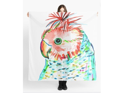 Iconic Colours Scarf- Outstanding Gang Gang Cockatoo