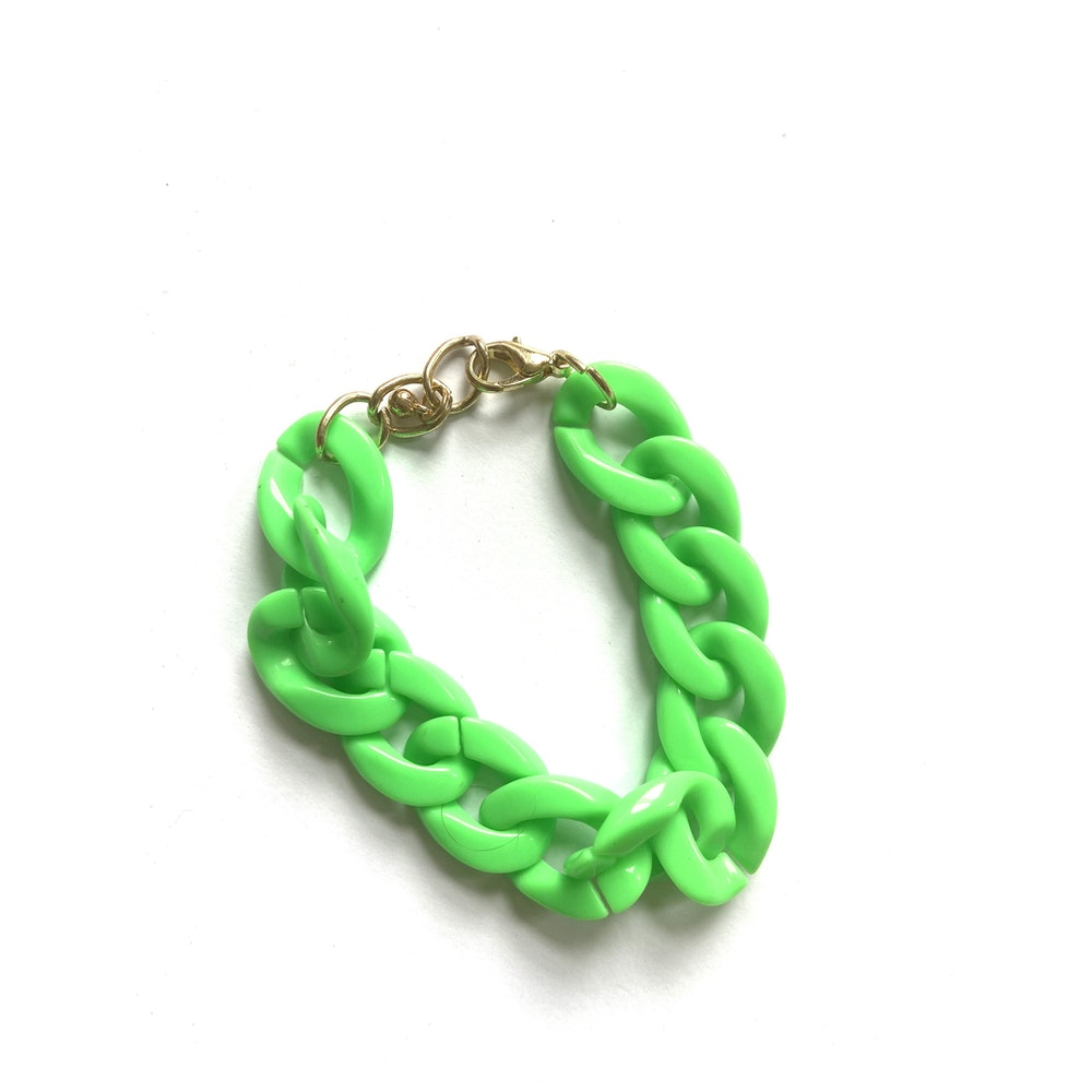 One of a Kind Club Neon Green Chunky Bracelet