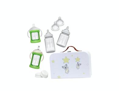 Glass Baby Bottles Starter Kit - Green