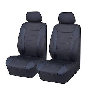 Universal Ultra Light Neoprene Front Seat Covers Size 30/35 | Black/Black