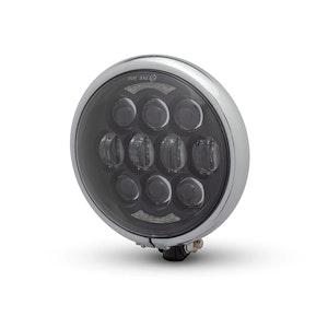 Bates Style LED Multi Projector Headlight - Gloss Black / Chrome