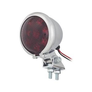 Small Round LED Brake Light - Chrome