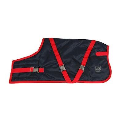 Zeez Supreme Waterproof Dog Coat Navy Stone/Red - 12 Sizes