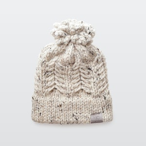 Pine Ridge • Beanie • Chunky Knit • Colour: OATMEAL