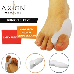 Boutique Medical 1 Pair Axign Medical Bunion Sleeve with Toe Spacer Separator Pain Relief Alignment