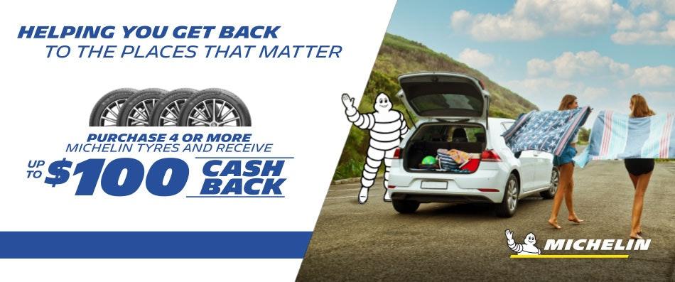 Michelin Cash Back Promotion   Bob Jane T-Marts