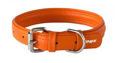 Rogz Leather Collar Orange