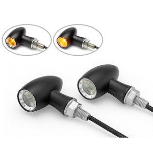 LADZ Aluminium Mini LED Indicators - Matte Black / Silver