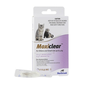 Moxiclear For Kittens & Small Cats Less Than 4kg Purple