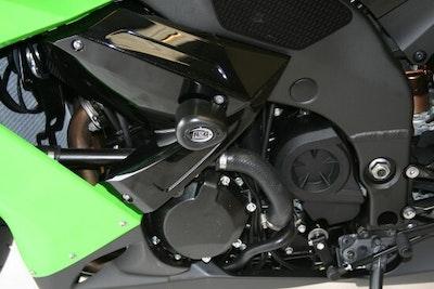 R&G Racing Aero Style Crash Bobbins To Suit Kawasaki ZX10R 2008 - 2010 (Black)