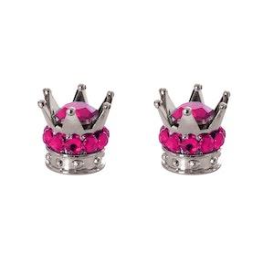 Pair Junior Crown Valve Caps - Pink