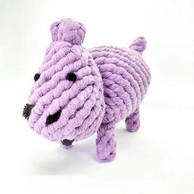 """Queenie's Pawprints Eco-friendly Cotton Rope Toy """"Hippo"""""""
