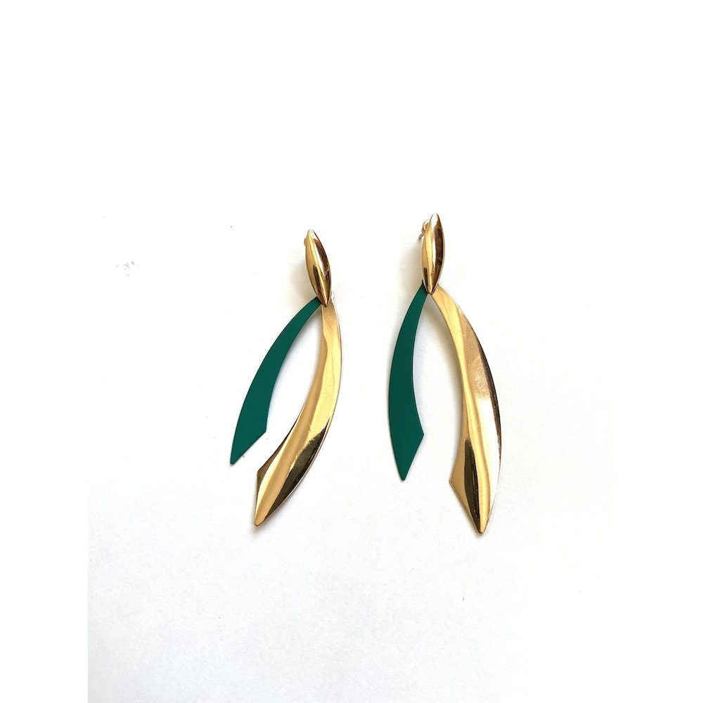 One of a Kind Club Green Bold Strong Earrings