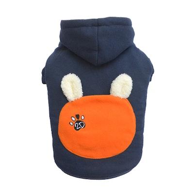 DoggyDolly SMALL DOG - Bunny Hood Doggy Sweatshirt Navy