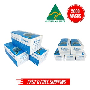 Disposable Medical Face Mask Level 2, 3 Ply (Australian Made) - 100 x 50pcs/box