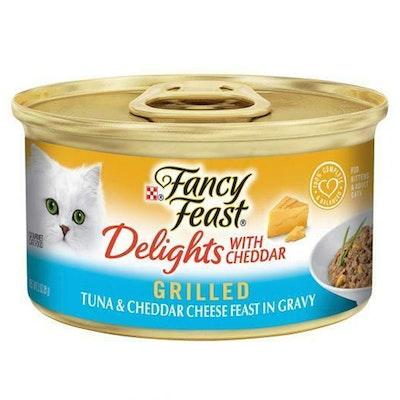 Fancy Feast Delights w/ Cheddar Wet Cat Food Tuna & Cheddar Cheese 24 x 85g