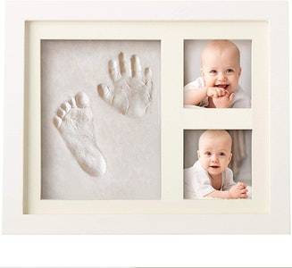 Bubzi co CHARMING BABY HANDPRINT and Footprint Frame Kit -Baby Keepsake Preserves Priceless Memories -Non Toxic and Safe Clay -Great Baby Gift For Baby Registry