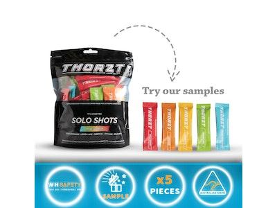 5 Thorzt Sample Sachets - Sugar Free Electrolyte Solo Shot - Mixed Flavours 5 x 3g