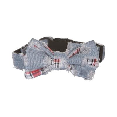 Hamish McBeth Bow Tie Dog Collar - Denim