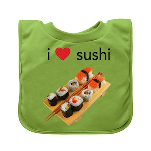 green sprouts Pull-over Food bib (single)-Green Sushi-9/18mo