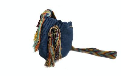 Continente Dorado Mini Wuin Crossbody bag-Blue