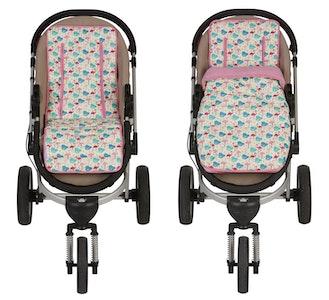 Keep Me Cosy™ Pram Liner + Footmuff 2 in 1 Set (Infant) – Flamingo