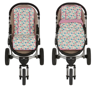 Keep Me Cosy™ Pram Liner + Footmuff 2 in 1 Set (Infant) – Flamingo