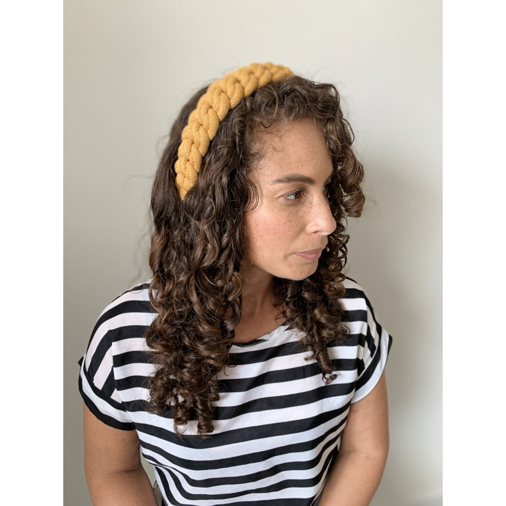 Form Norfolk Chunky Loop Knot Headband In Mustard Yellow