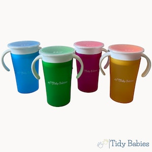 Tidy Babies  360 Baby Trainer Drinking Magic Cup With Handles And Lid