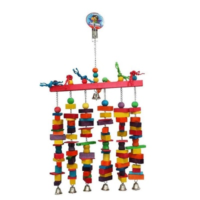 Cheeky Bird Jumbo 6 Stack Wooden Bird Toy w/ Bells