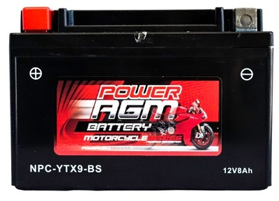 Power AGM 12V 10AH 150CCAs Motorcycle Battery