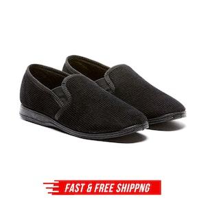 Grosby Blake 2 Men's Slippers Slipper Slip On Indoor Outdoor Casual Moccasins Moccasinl - Black
