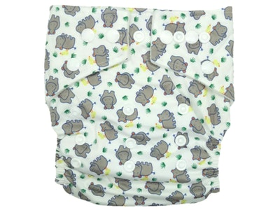 Hippybottomus Stay Dry Bamboo Cloth Nappy - Hippos
