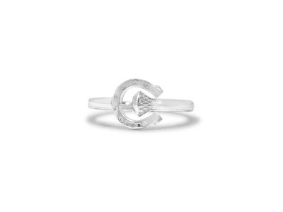 Breeze Horseshoe & Nail Wrap Ring