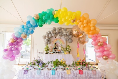 RAINBOW INSPIRED FIRST BIRTHDAY