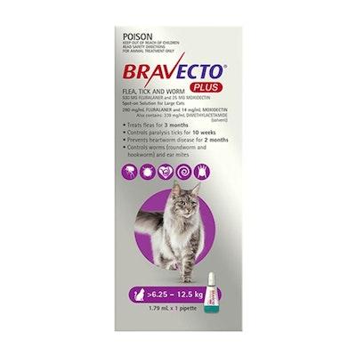 BRAVECTO PLUS Spot On 6.25-12.5kg Cat 2 Month Pack