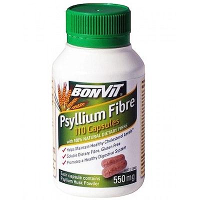 BONVIT Psyllium Natural Dietary Fibre Husk 110 Capsules 550mg