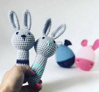 Hand Crocheted Bunny Rattle